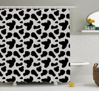 Cow Hide Black Spots Shower Curtain