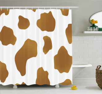 Brown Spots on Cow Shower Curtain