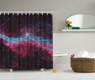 Outer Space Stars Galaxy Shower Curtain