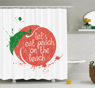 Soft Fruit Quirky Quote Shower Curtain