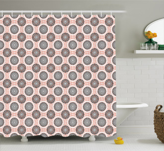 Abstract Soft Circles Shower Curtain