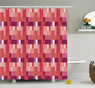 Geometric Square Colorful Shower Curtain