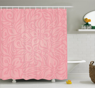 Floral Abstract Artwork Shower Curtain