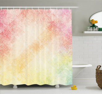 Vibrant Grunge Abstract Shower Curtain