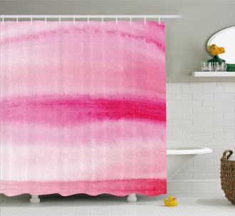 Artsy Brush Strokes Shower Curtain