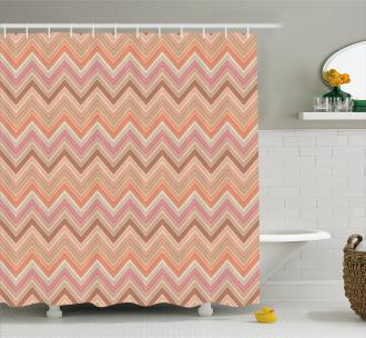 Zigzag Vintage Design Shower Curtain