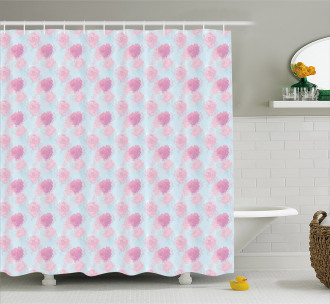 Rose Buds Soft Flowers Shower Curtain