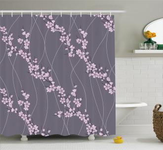 Asian Japanese Sakura Shower Curtain