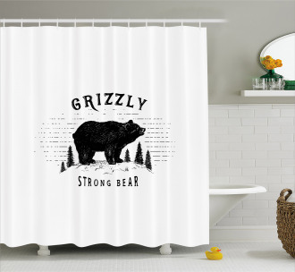 Strong Wild Animal Forest Shower Curtain