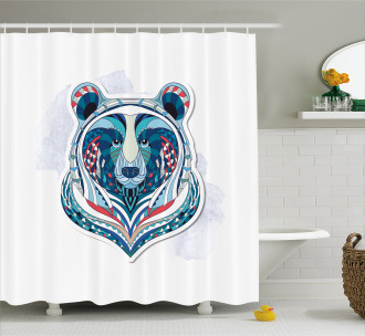 African Patterned Portrait Shower Curtain