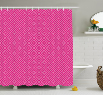 Squares Classical Tile Shower Curtain