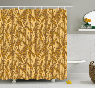 Cereal Ears Rural Field Shower Curtain