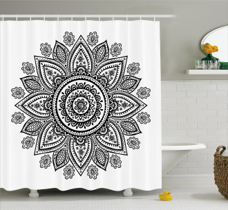 Sunflower Pattern Bloom Shower Curtain