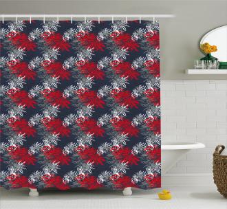 Vibrant Japanese Asian Shower Curtain
