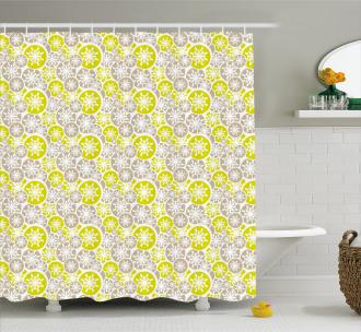 Retro Japanese Blossom Shower Curtain