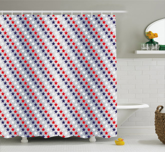 Patriotic Western Salute Shower Curtain