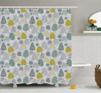 Late Autumn Forest Trees Shower Curtain