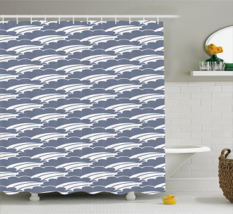 Japanese Stripes Shower Curtain