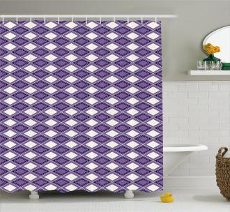 Vivid Chevron Zigzags Shower Curtain