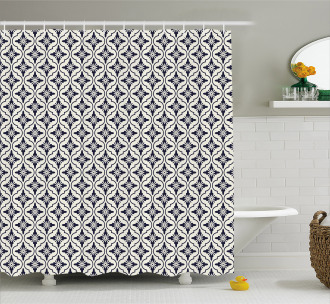 Japanese Floral Style Shower Curtain
