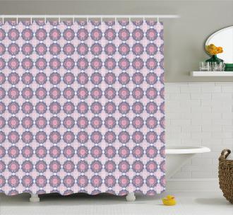 Eastern Mandala Design Shower Curtain