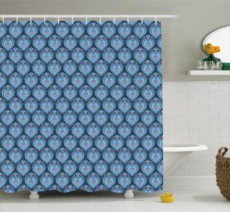 Tribal Floral Arrangement Shower Curtain