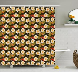 Japan Inspired Lotus Koi Shower Curtain