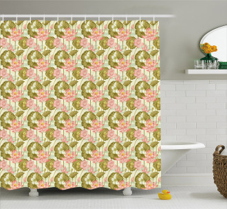 Exotic Foliage Butterfly Shower Curtain
