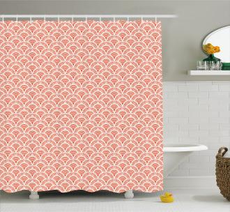 Half Circles Scale Motif Shower Curtain