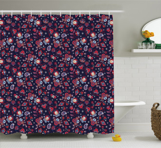 Fantastical Paisleys Shower Curtain