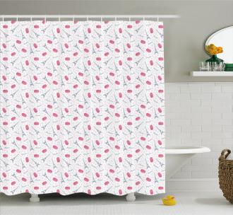 Tasty Retro Macaroons Shower Curtain