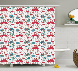Valentines Kissing Shower Curtain