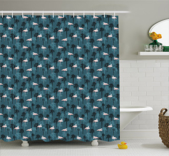 Island Jungle Nature Shower Curtain