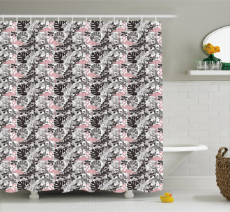 Artistic Orchid Palm Shower Curtain