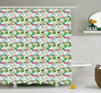Fresh Exotic Jungle Shower Curtain