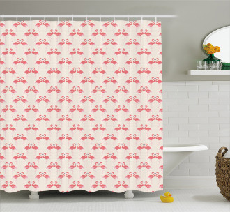 Retro Dots Tropic Bird Shower Curtain