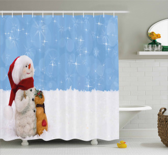 Winter Christmas Time Shower Curtain