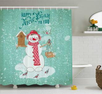 Happy New Year Cute Shower Curtain