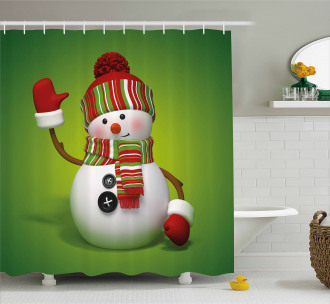 3D Traditional Mascot Shower Curtain