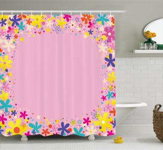 Girls Birthday Flora Shower Curtain