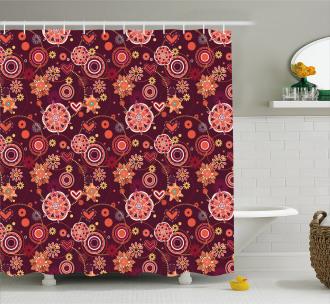 Vintage Foliage Shower Curtain