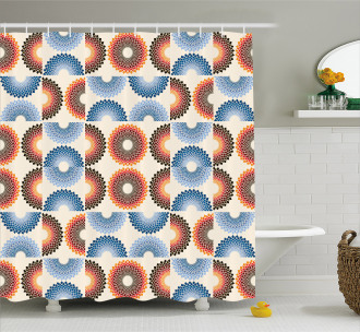 Checkered Floral Shower Curtain