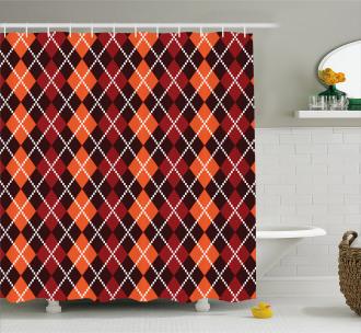 Scottish Argyle Shower Curtain