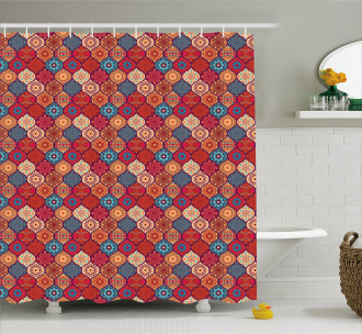 Oriental Wavy Natural Shower Curtain