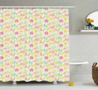 Silhouettes in Color Shower Curtain