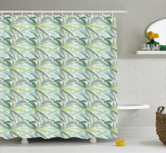 Leafy Green Branches Shower Curtain