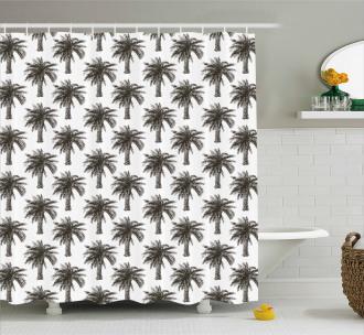 Retro Growth Lush Shower Curtain