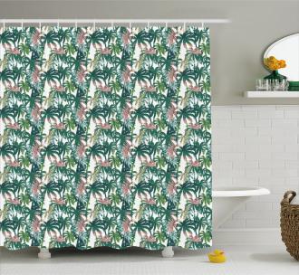 Dreamy Jungle Foliage Shower Curtain