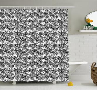 Monochrome Woodland Shower Curtain