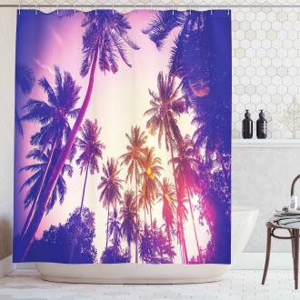 Tropic Island Sunset Shower Curtain